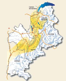 sillon alpin carte de france
