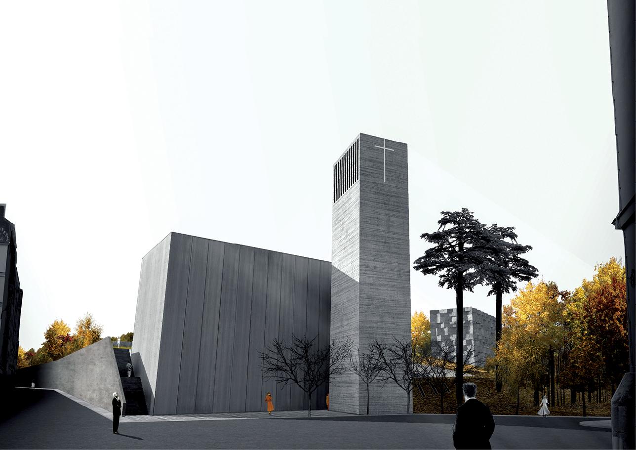 Ensa Paris Val De Seine nominé david mader église du père lachaise, paris (75) ensa