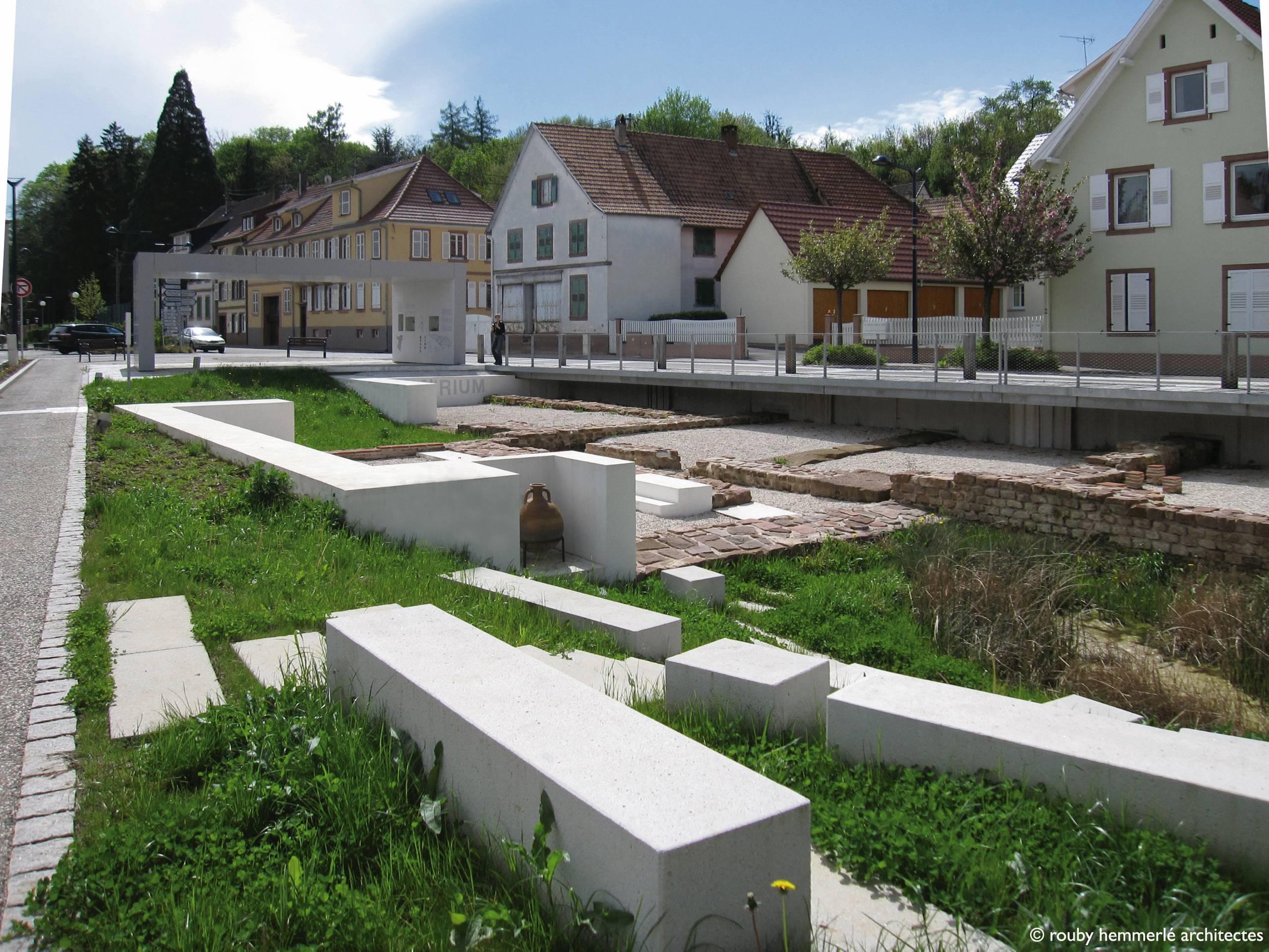 Architecte Bas Rhin bas-rhin vestiges romains au grand jour à niederbronn
