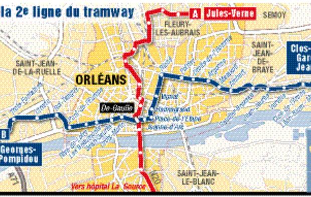Orleans La Deuxieme Ligne De Tramway A Enfin Son Trace