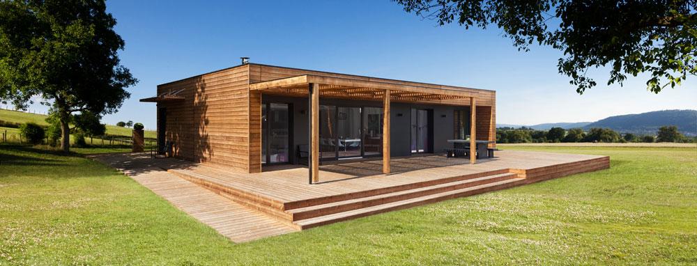 ossature bois burger lance un concept de maisons industrialis es. Black Bedroom Furniture Sets. Home Design Ideas