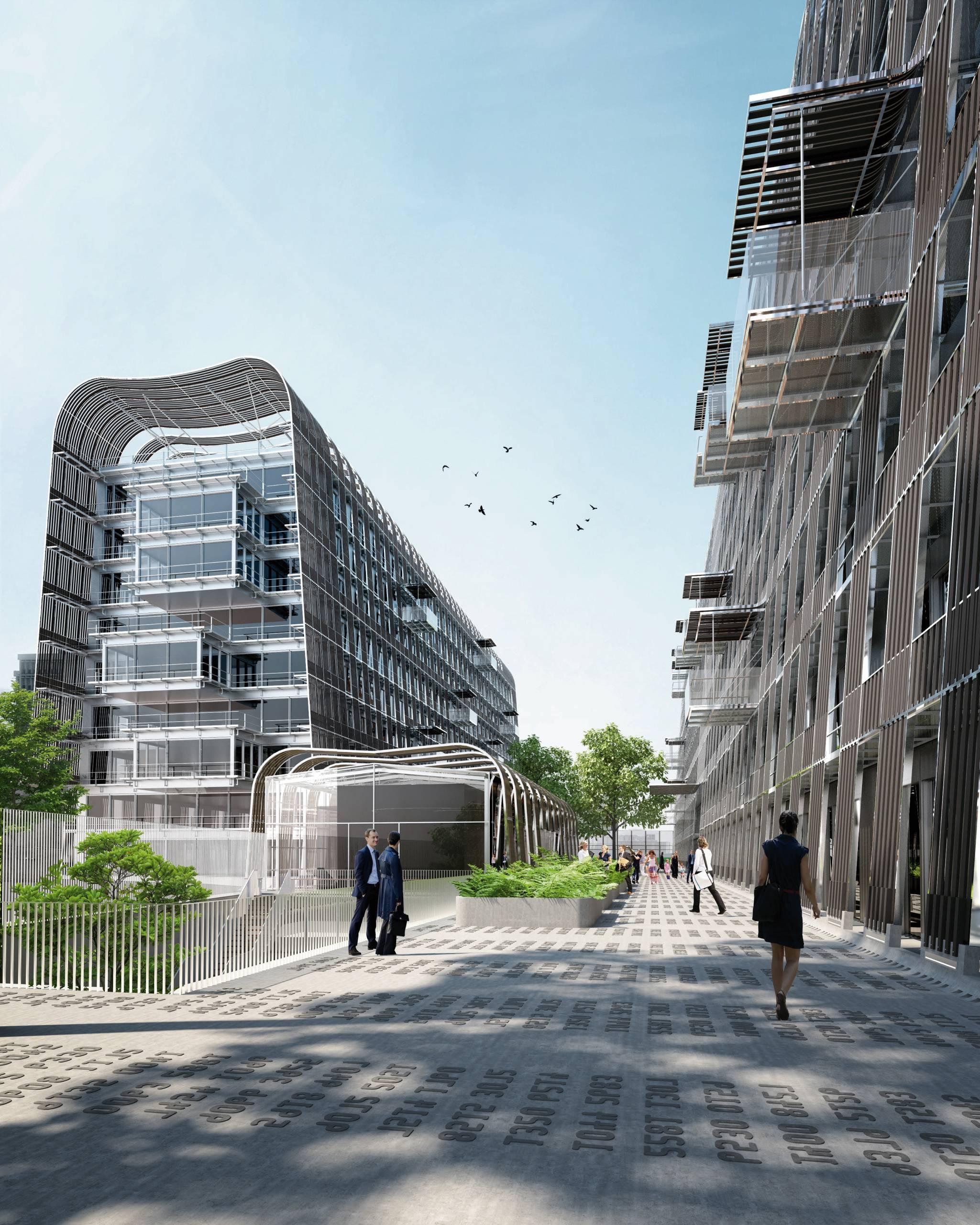 Japonais Val De Fontenay bâtiment-paysage pour le campus de la société générale