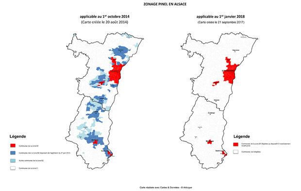 Carte Lalsace.L Alsace En Premiere Ligne Du Zonage Pinel