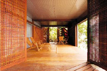 Rua Arquitectura Claustras En Bois Pour Maison De Vacances