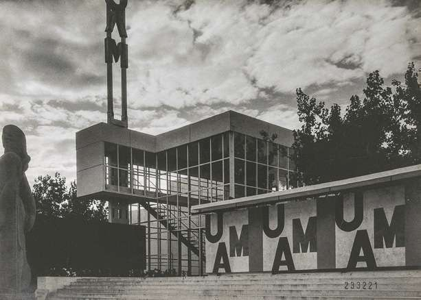Pavillon de l'Union des artistes modernes (UAM) pour l'exposition internationale de 1937 à Paris, par Georges-Henri Pingusson.