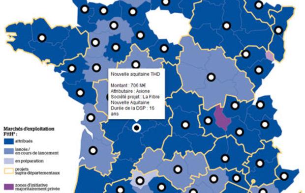 france très haut débit carte Plan France très haut débit : découvrez l'avancement des projets