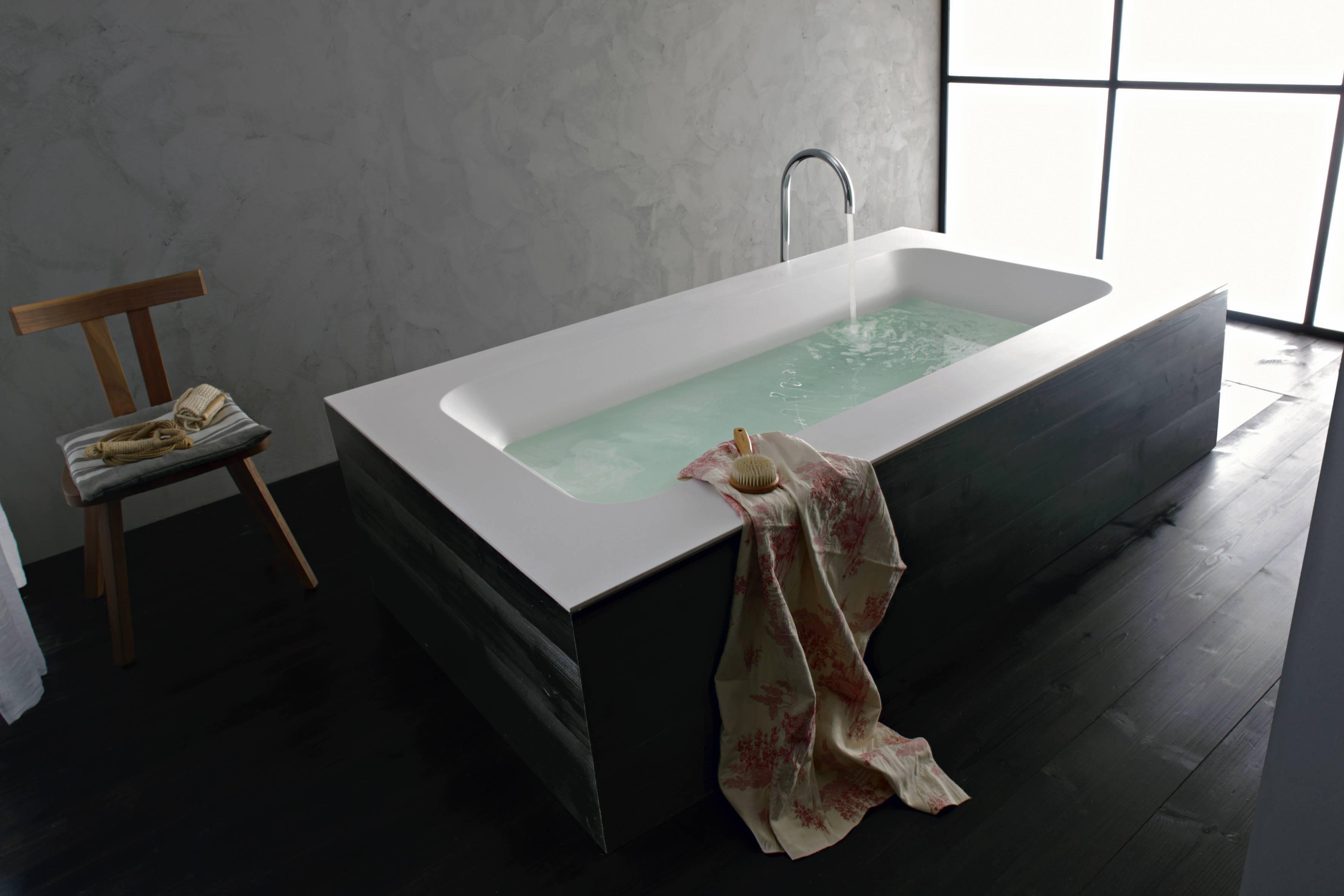 Baignoire Beton De Synthese réaliser une alimentation en eau par le sol ou le plafond