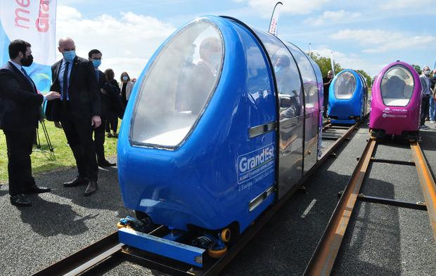 Transports : à Nancy, les capsules Urbanloop établissent un record du monde