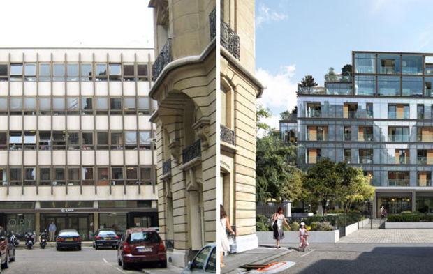 Cinq transformations dimmeubles de bureaux en logements à paris