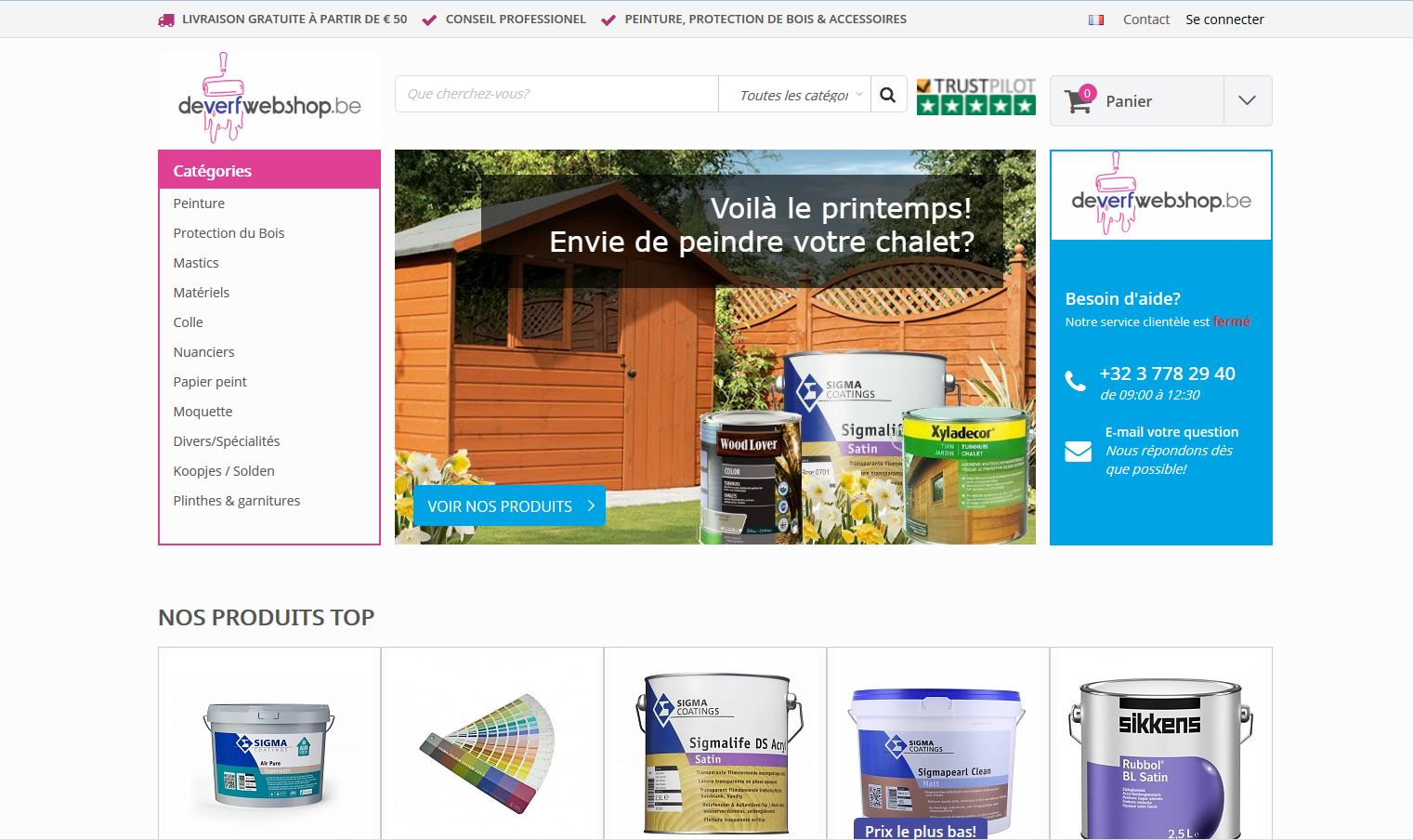 Le site flamand deverfwebshop.be arrive en France