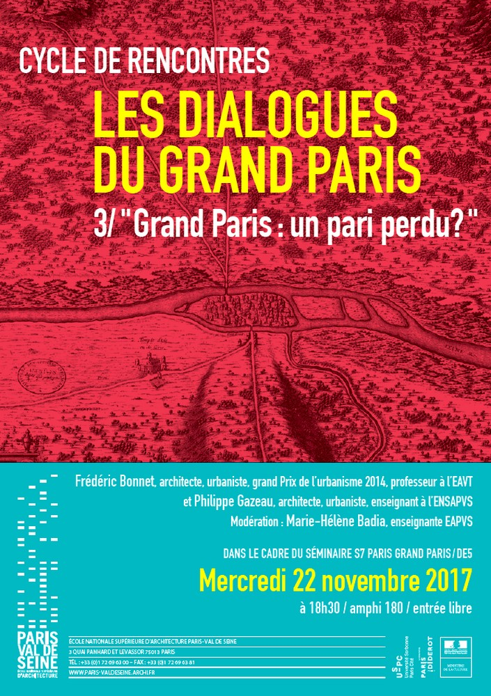 Cycle de rencontres «Dialogues du Grand Paris»