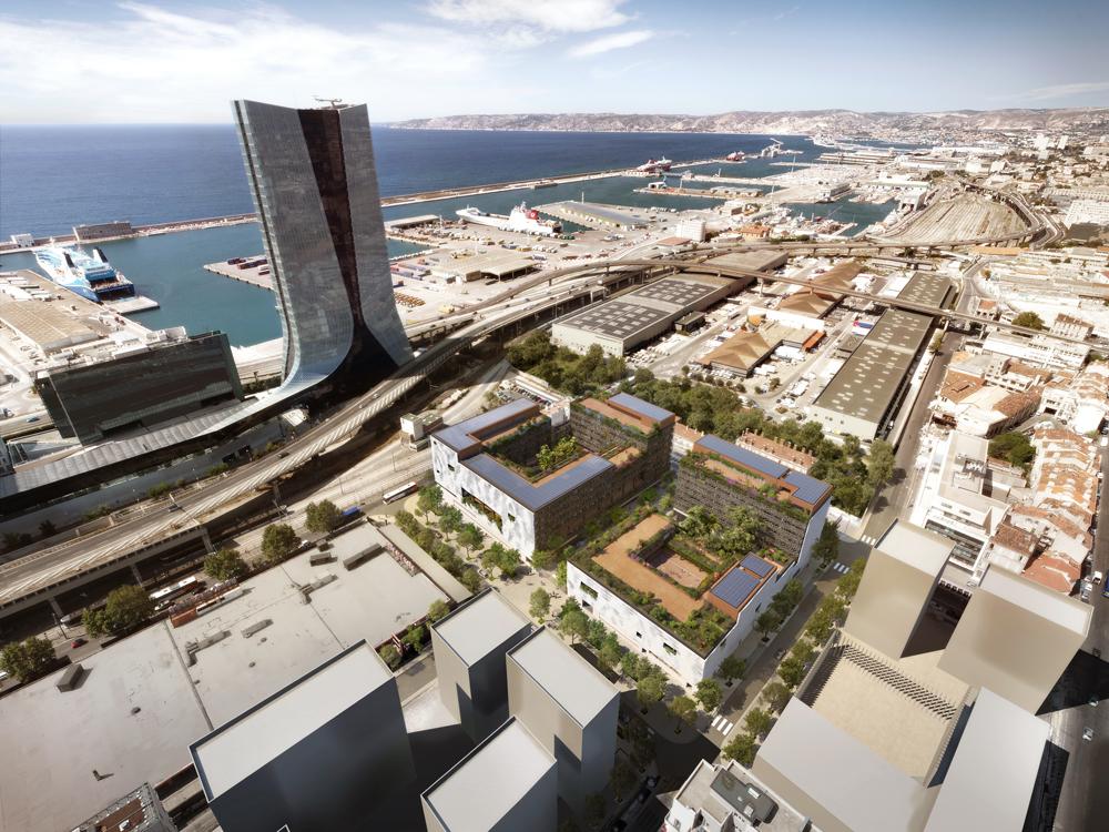 Projet pour la Cité scolaire internationale de Marseille par Rudy Ricciotti et Carta Associés