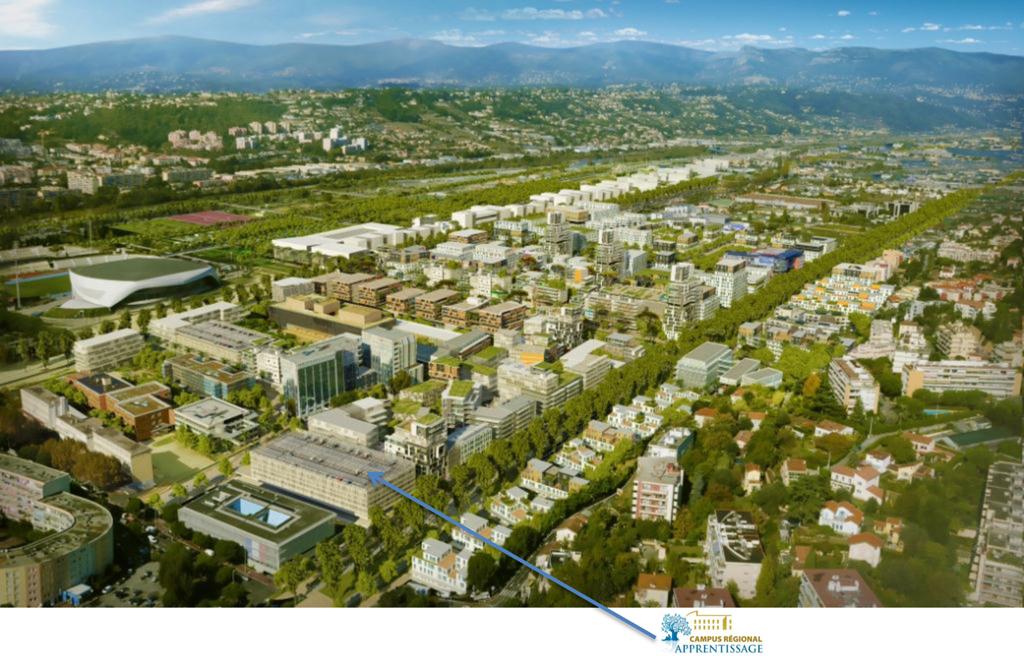 2015-06-24: Ce campus marque une nouvelle étape dans le développement de l'Eco Vallée Plaine du Var.  © CCI Nice Côte d'Azur