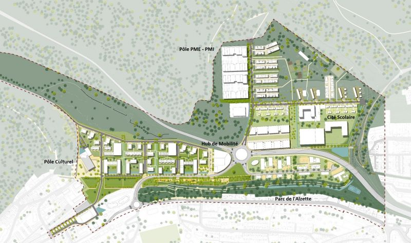 Plan masse du quartier de Micheville