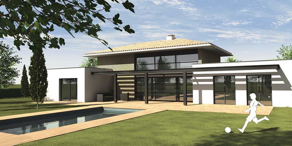 En haute garonne le toit en pente se rebiffe - Maison architecte contemporaine moderne melbourne ...