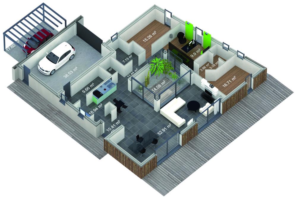 la maison concept de 2020 vue par maisons france confort. Black Bedroom Furniture Sets. Home Design Ideas