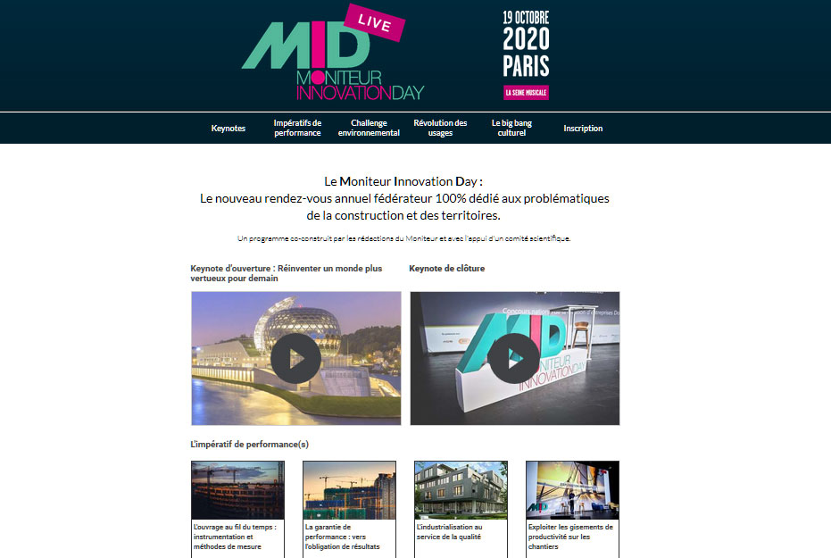 #MIDWeek 2020 : Moniteur Innovation Day, le replay