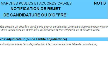 Marches Publics Bercy Met A Jour Le Formulaire Noti3
