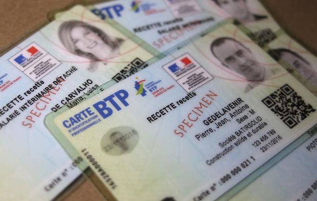 Les Nouvelles Cartes Didentite Professionnelle Du BTP Sont Sorties De L Imprimerie Nationale