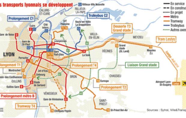 Grand Lyon Developper Le Reseau Des Transports