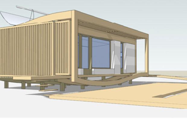 conjugaison de mat riaux naturels et high tech pour une maison exemplaire. Black Bedroom Furniture Sets. Home Design Ideas